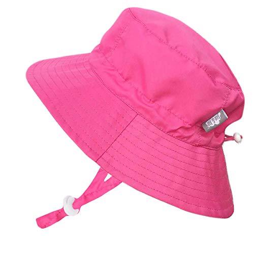 Design Inc. 赤ちゃん幼児用子供用50?+ UPFバケットSun Hat with Chinストラップ、サイズ調節可能Aqua Dry カラー: ピンク