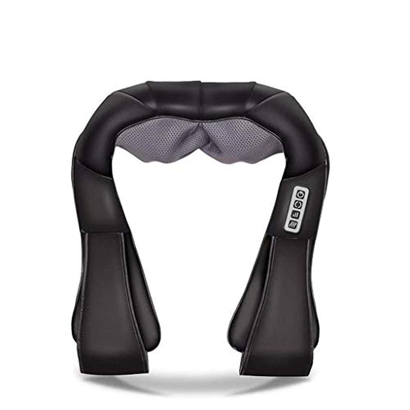エッセイ貢献する怠惰首、背中、肩、腰、足、足に適した筋肉痛と圧力を和らげるための首マッサージ器、電動マッサージ器、加熱ディープバックマッサージ器