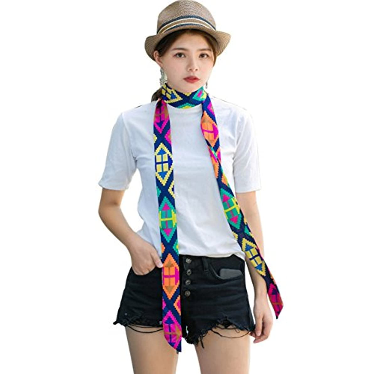 現実的血色の良い変換BOXUAN小さいスカーフの女性 の細い長条 スカーフ 夏 マフラー ベルト リボン バッグはリ ボンを飾ります 旅行 通勤用 スカーフ ギフト春秋 マフラー おしゃれ レディース