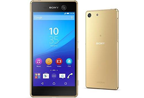 SIMフリー SONY Xperia M5 Dual E5663 ゴールド(Unlocked LTE, 16GB, Gold)【並行輸入品】