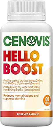 CENOVIS Hello Boost - Support Physical Endurance and Stamina - Relieve Tiredness - Reduce Mental Fatigue, 60 T