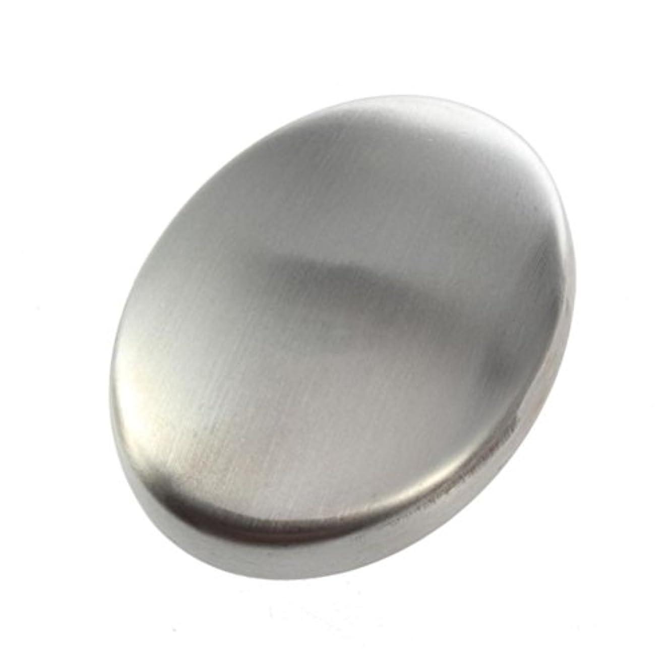 モバイルのぞき穴踏みつけFlybloom ステンレス鋼の石鹸の臭気は容易な速く除去の臭いの台所棒楕円形の石鹸のための石鹸を取除きます