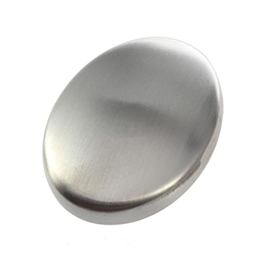 安価な絡まる刺繍Flybloom ステンレス鋼の石鹸の臭気は容易な速く除去の臭いの台所棒楕円形の石鹸のための石鹸を取除きます