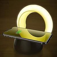 QIワイヤレス高速充電器+ Usb充電式タッチセンサーランプledナイトライトスマートテーブルランプナイトライトfor Iphone Samsung,Warmlight