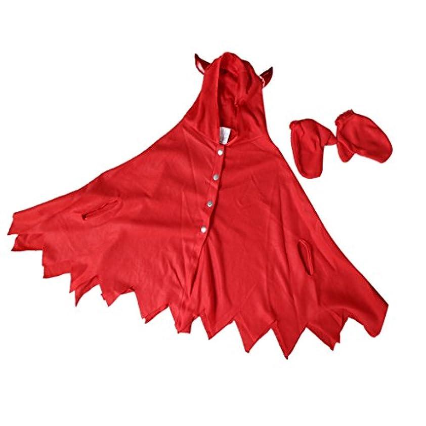 マニアック思い出させるインペリアルBaosity ハロウィーン 仮装 子供着用 クローク 手袋 赤い悪魔 雰囲気作り コスチューム お祭り パーティー
