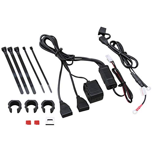 DAYTONA(デイトナ) バイク専用電源 5V 2.1A USB×2+シガーソケット×1 93043