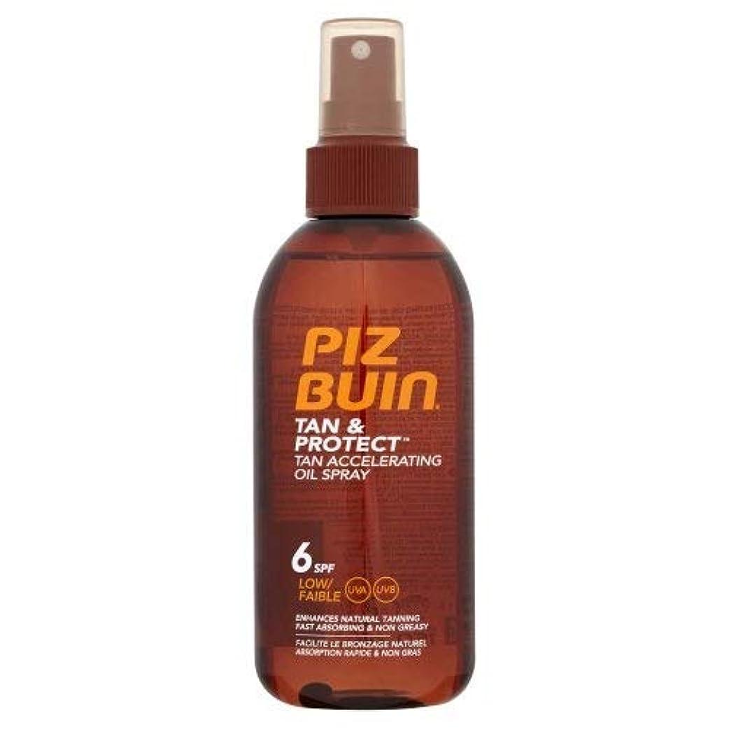 規模溶融お風呂を持っているPiz Buin - ピッツブーインTAN&PROTECT SPF6オイルスプレー150ミリリットル - 【並行輸入品】