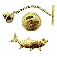 ターポンタイタック~ 24Kゴールド~タイタックまたはピン~サラのTreats & Treasures