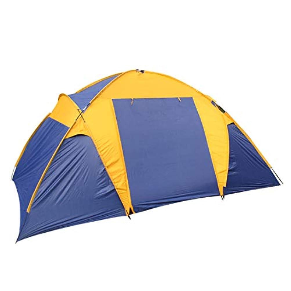 減らす驚いたことにパントリーMHKBD-JPクライミングテントダブルキャンプ2ベッドルーム1ホールテント防風日焼け止めテント用アウトドアスポーツマン キャンプテント (サイズ : 5-8P)