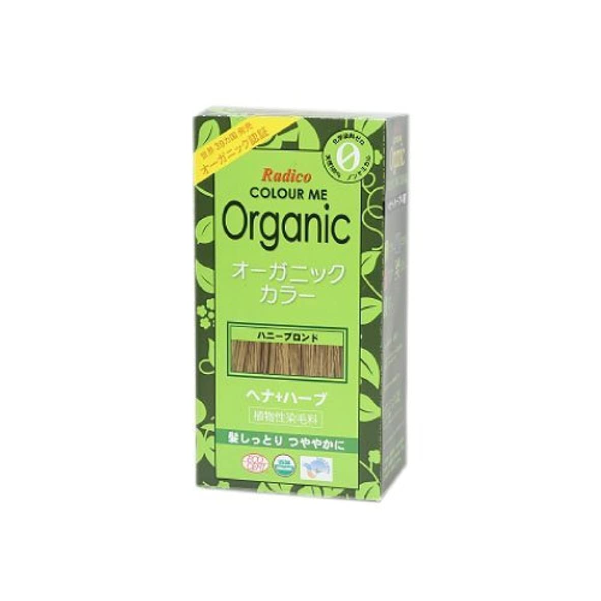 アスリート挑発する研究所COLOURME Organic (カラーミーオーガニック ヘナ 白髪用) ハニーブロンド 100g