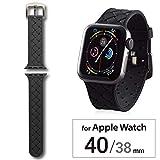 エレコム Apple Watch バンド 40mm/38mm シリコン イントレチャート   ブラック AW-40BDSCIBK