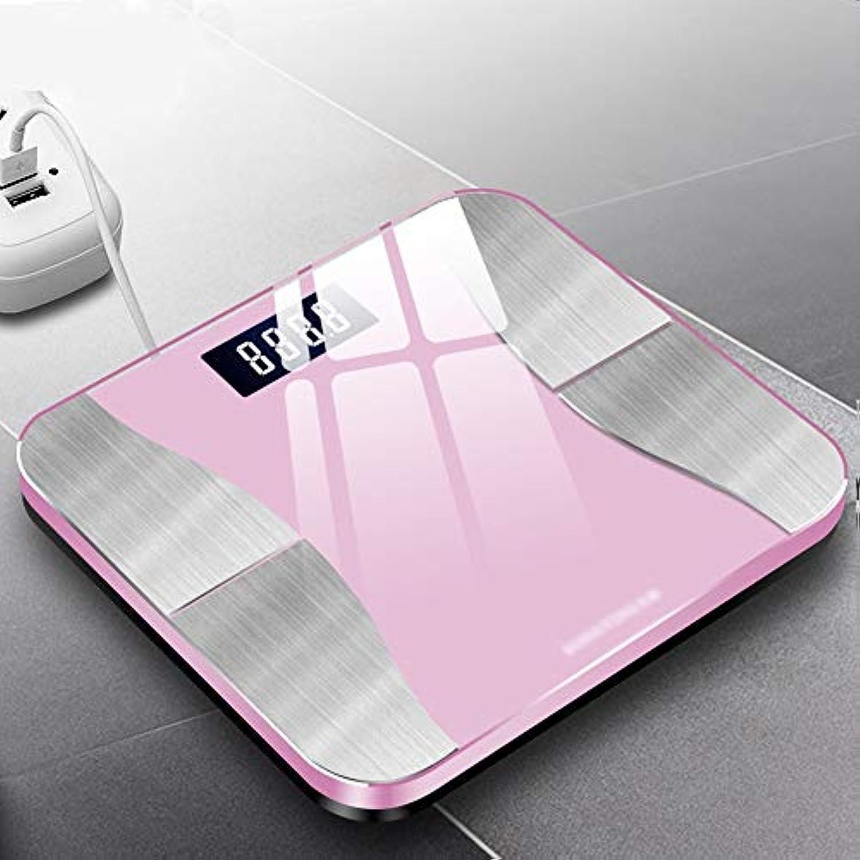XF 体重計?体脂肪計 ブルートゥース体脂肪スケール - 高精度デジタルバスルーム体組成計、正確な健康指標、USB充電式BMIスケールインテリジェント体脂肪スケール 測定器 (色 : Cherry powder)