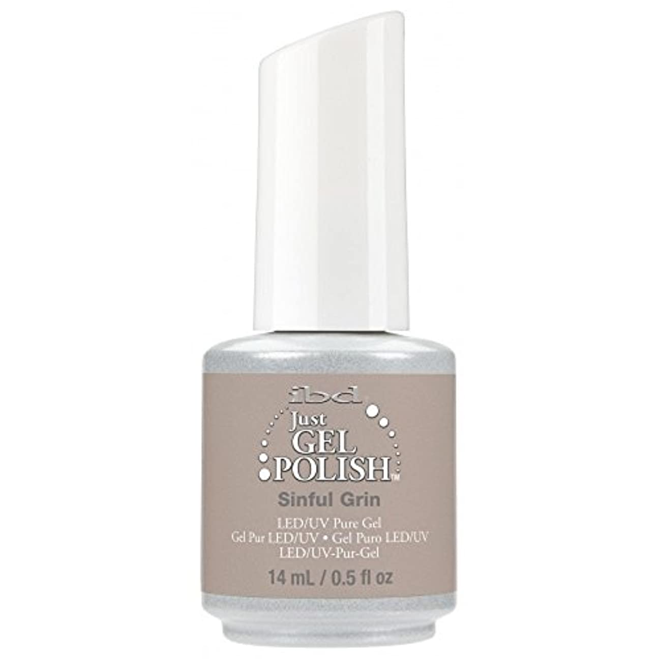 上昇申し込む手荷物ibd Just Gel Nail Polish - 2017 Nude Collection - Sinful Grin - 14ml / 0.5oz