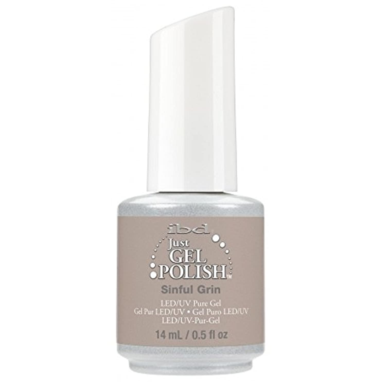 マキシム施設条約ibd Just Gel Nail Polish - 2017 Nude Collection - Sinful Grin - 14ml / 0.5oz
