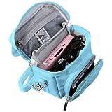 Orzly Travel Bag for Nintendo DS Consoles (New 2DS XL / 3DS / 3DS XL / New 3DS / New 3DS XL / Original DS / DS Lite / DSi / etc.) - Includes Belt Loop, Carry Handle, Shoulder Strap - BLUE