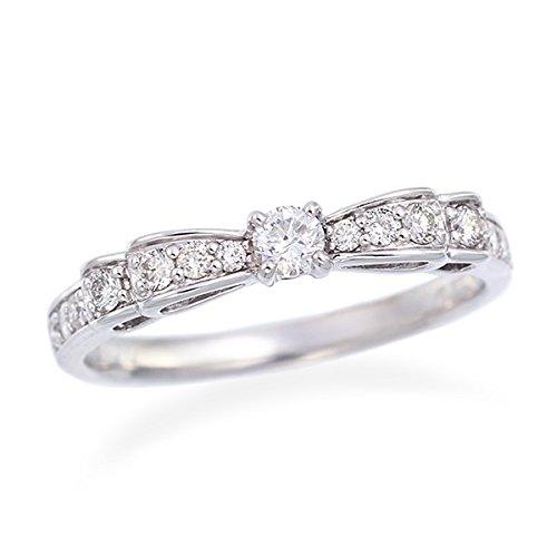 [ジュエリーツツミ]JEWELRY TSUTSUMI K18ホワイトゴールドダイヤモンドリング RFR135-001 14号