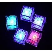 レインボーキューブ アイス 光る氷 カクテル LED キューブ 氷型 6個入 (6, ゆっくり点滅)