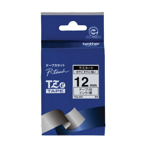 RoomClip商品情報 - ブラザー工業 TZeテープ ラミネートテープ(白地/黒字) 12mm TZe-231