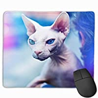 Cheng xiao Mouse Pad Cute Canadian Cat Pattern Rectangle Rubber Mousepad Non-toxic Print Gaming Mouse Pad with Black Lock Edge,9.8 * 11.8 in,ベーシック マウスパッド ゲーム用 標準サイズ