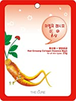 紅参 コラーゲン エッセンス マスク THE CURE シート パック 100枚セット 韓国 コスメ 乾燥肌 オイリー肌 混合肌
