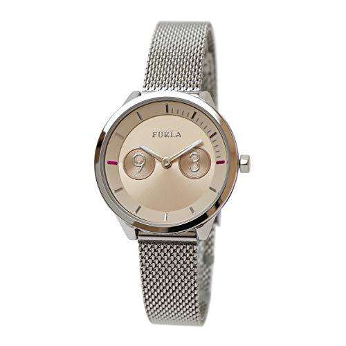 FURLA METROPOLIS フルラ メトロポリス 31mm アナログ ベージュ メッシュブレスレット ビジネスウォッチ R4253102531 ファッションウォッチ シンプル レディースウォッチ 女性用腕時計 防水 軽量 薄型 [並行輸入品]