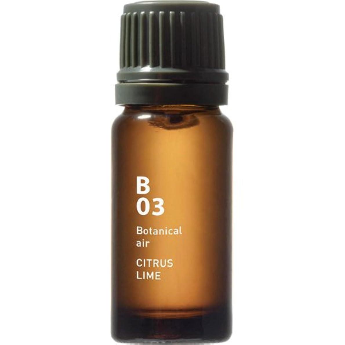 おもしろい比較的教B03 シトラスライム Botanical air(ボタニカルエアー) 10ml
