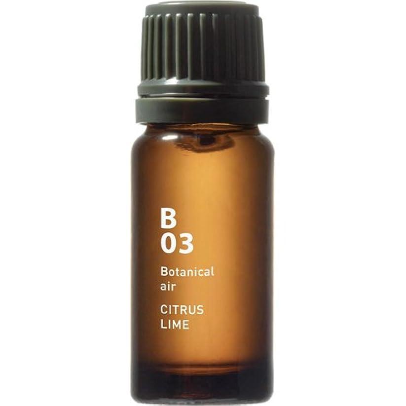測定柔和献身B03 シトラスライム Botanical air(ボタニカルエアー) 10ml