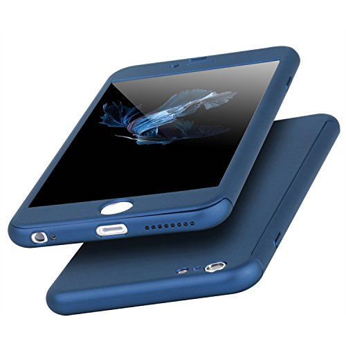 Imikoko iPhone8 Plus ケース iPhone7Plusケース ガラスフィルム 360度フルカバー アイフォン8プラスカバー