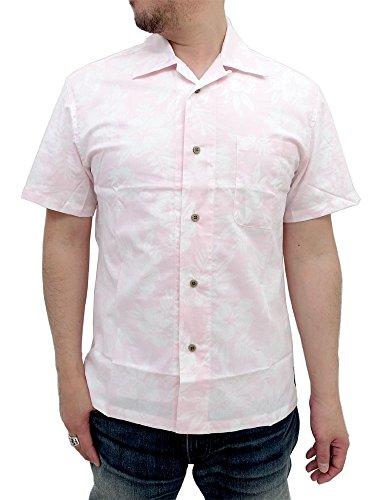 (ルーシャット)ROUSHATTE アロハシャツ 綿裏使い 20color L ピンク