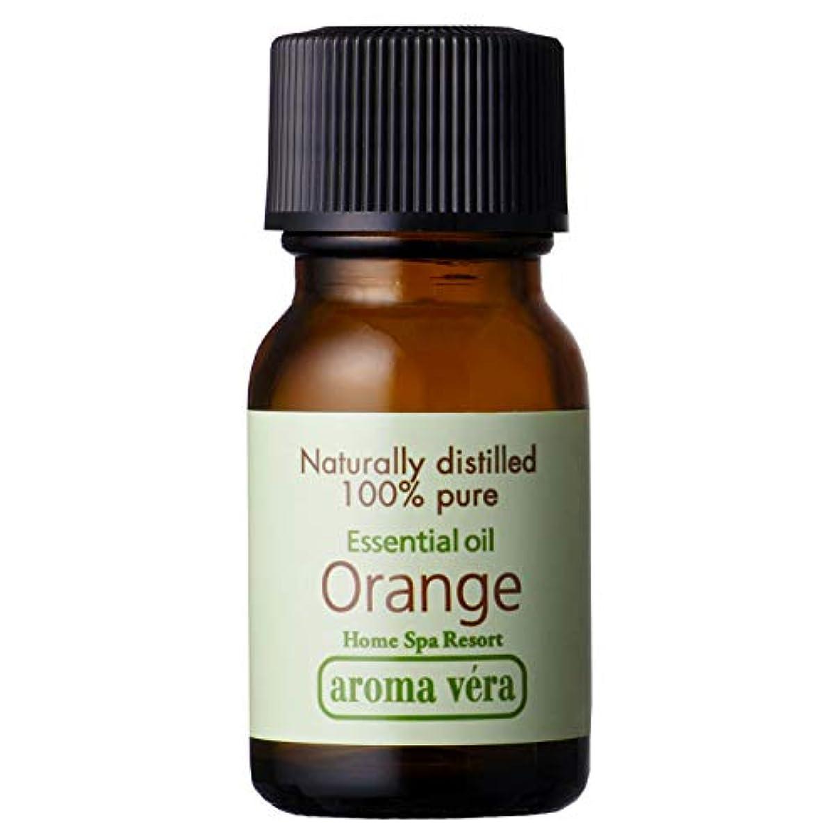 ピニオンベンチ水を飲むアロマベラ エッセンシャルオイル オレンジ 10ml