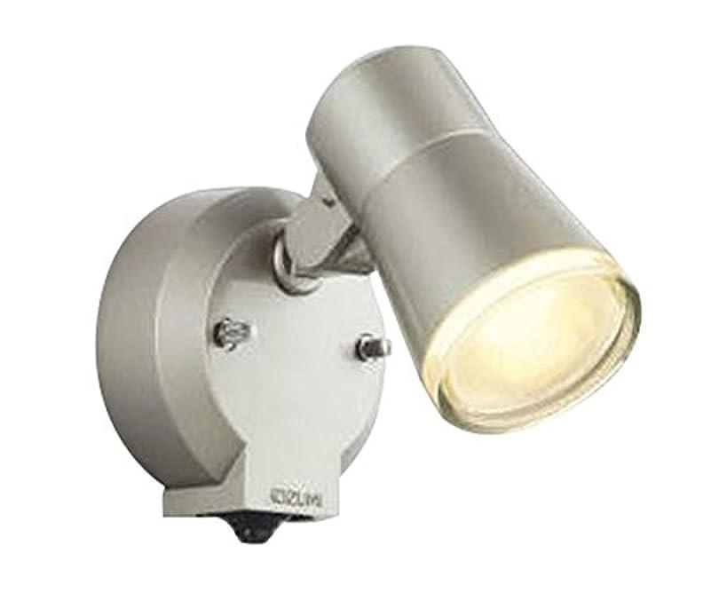 覆す密度虹コイズミ照明 人感センサ付スポットライト タイマー付ON-OFFタイプ 拡散 白熱球60W相当 ウォームシルバー塗装 AUE640556