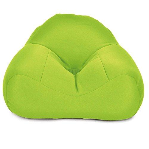 クッション ビーズクッション 猫背防止 美姿勢 あぐら座椅子 「 あぐーら 」 グリーン色