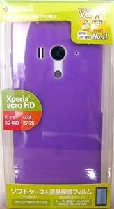ラスタバナナ Xperia acro HD(SO-03D/IS12S)用 ソフトケース パープル C852ACROHD