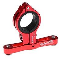 F Fityle 全5色 MTB 自転車 ウォーターボトル クランプ マウント ホルダー アダプター ハンドルバー/シートポスト用 - 赤