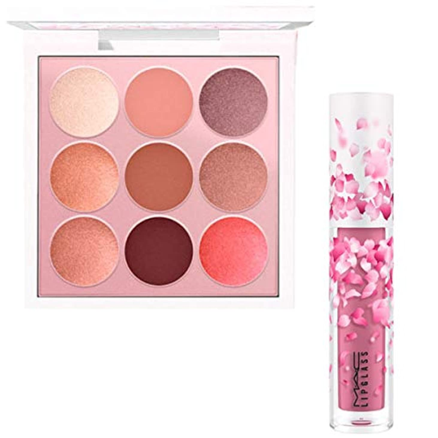 飽和する透過性首M.A.C 限定版, Boom, Boom, Bloom EyeShadow & Lipglass (Kabuki Doll Palette & Heartmelter) [海外直送品] [並行輸入品]