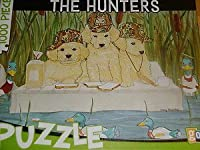 The Hunters Duck Hunting Golden Retriever Puppies 1,000 Piece Jigsaw Puzzle by Go! by On The Go