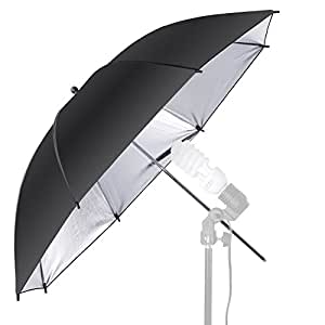 NEEWER 33 inch プロ 写真スタジオブラック/シルバー反射照明傘 写真撮影 フラッシュライトと場所の撮影に対応 【並行輸入品】