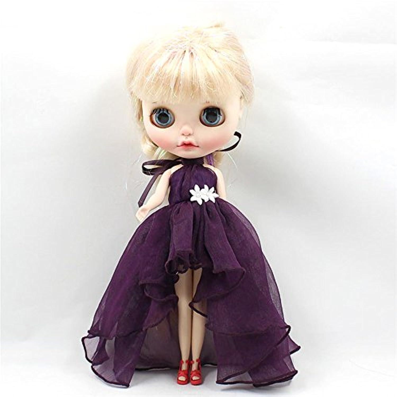 (ドーリア)Dollia ブライス 1/6ドール用 アウトフィット シフォン ショートライン シフォンドレス ふわふわ 服 ネオブライス ドール 人形 (イエロー)