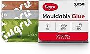 Sugru I000432 Original Formula-Brown, Green & Grey 3-Pack Mouldable Glue, 3 Piece
