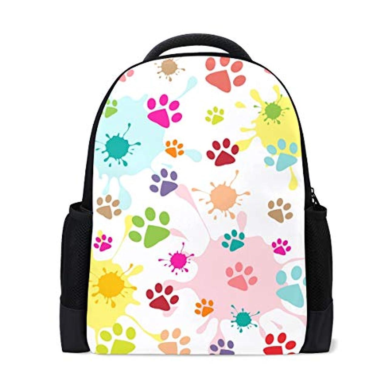 滴下でも集めるAnmumi リュック 人気 大容量 通勤リュック 猫柄 足跡 萌え リュックサック バックパック おしゃれ レディース キッズ 通学 かわいい