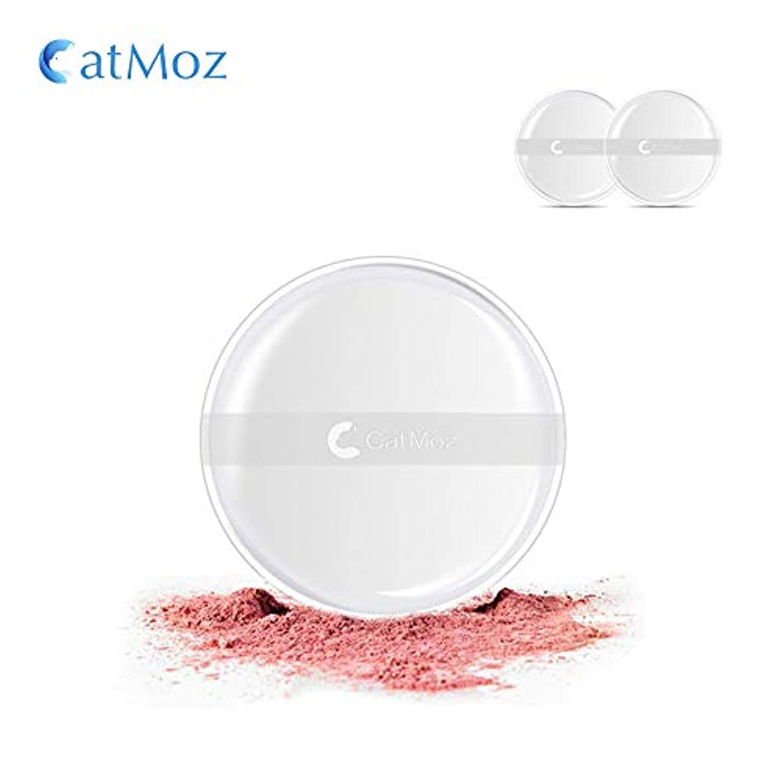 サイズ時吸うCatMoz 多機能 シリコンパフ メイク界の新ツール 内容物が吸収されない 柔らかな感触 肌にフィット 簡単?便利?清潔 帯付き 丸形2枚