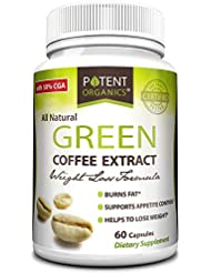 Pure Green Coffee Extract in 60 Capsules