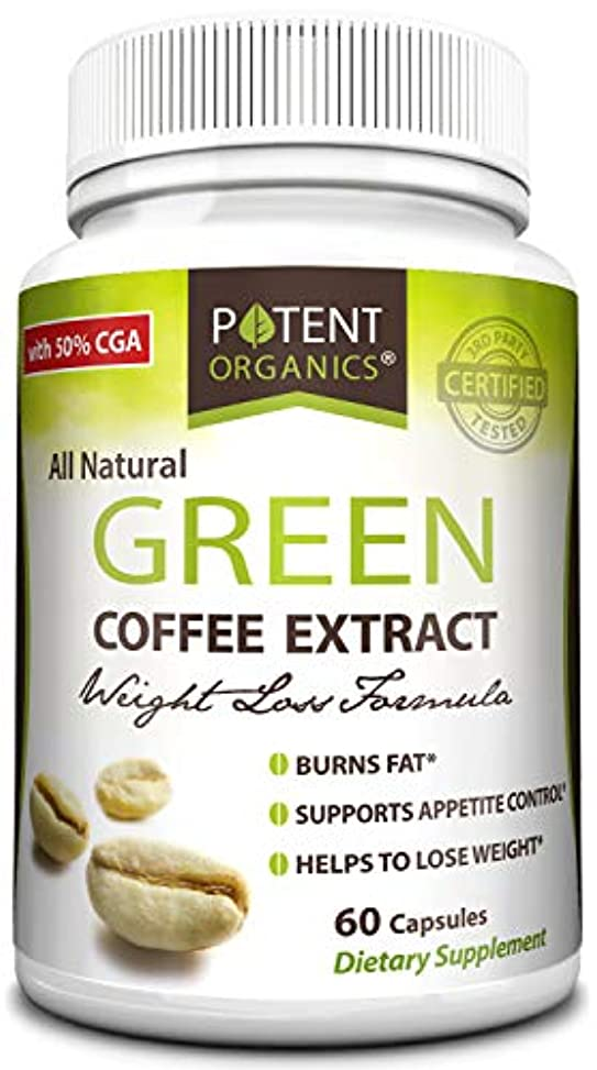 禁止する認証調和のとれたPure Green Coffee Extract in 60 Capsules