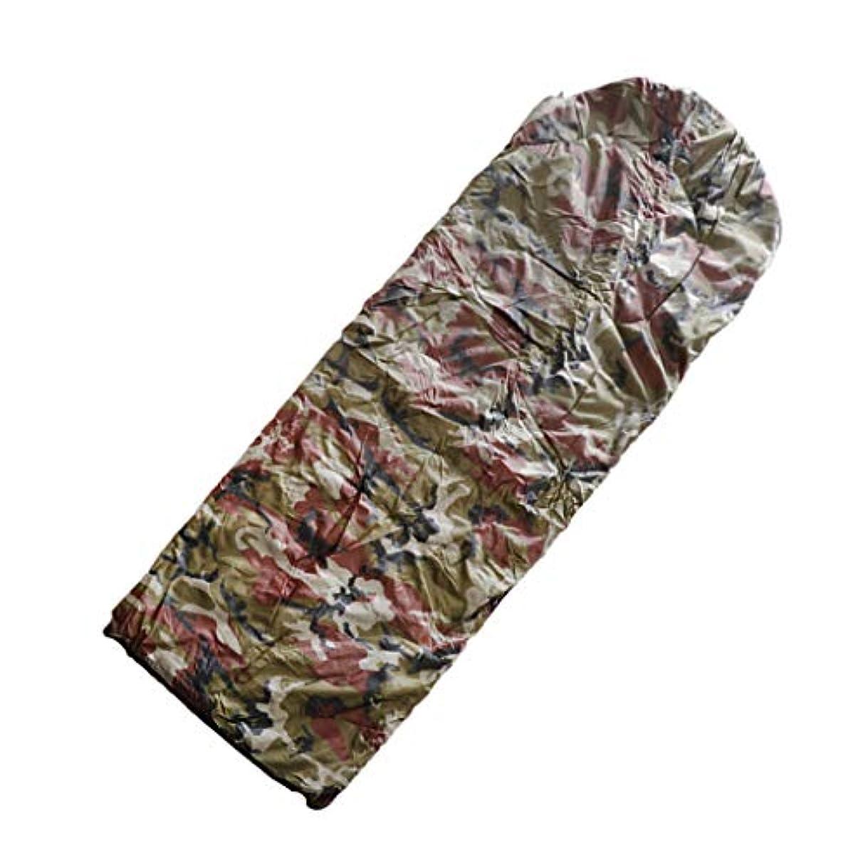 長老海港織るDYNWAVE 寝袋 シュラフ フード付 封筒式 冬用 収納袋付 保暖 キャンプ 旅行