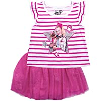 JoJo Siwa Girls Clothes Tulle Skirt and Shirt Outfit 2 Pc Sparkle Pink