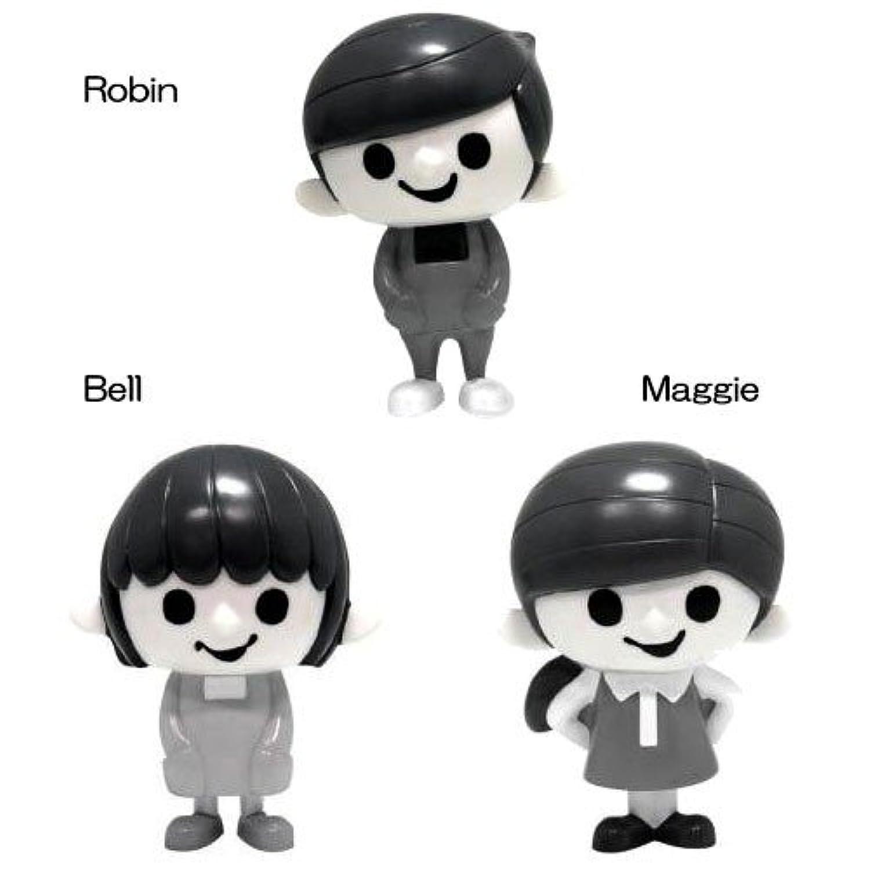 人形 白黒 かわいい 【ロビンくん】ソフビコレクション 限定モノクロ Bell