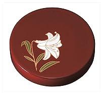 紀州漆器 22-83-5C 【5個セット販売】マグネット 赤 ゆり サイズ φ4.5×1cm