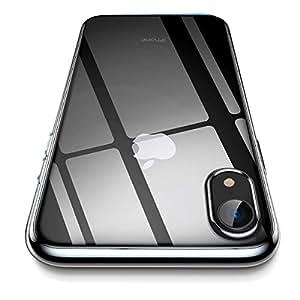 iPhone XR ケース クリア 2018年 6.1インチ iPhone XR ソフトカバー[透明TPUバンパー][薄型 軽量][[耐衝撃 全面保護][落下防止][ワイヤレス充電対応] 人気高 おしゃれ アイフォンXR ケース (ブラック)
