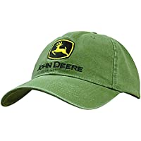 John Deere Mens John deere Embroidered Logo Baseball hat 13080000, Green, One Size