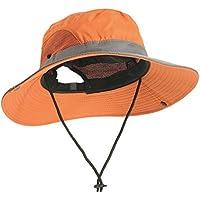 Breathable Boonie Hat Bucket Cap - Unisex Wide Brim Uv Sun Protection Fishing Mesh Hats Caps (Green)